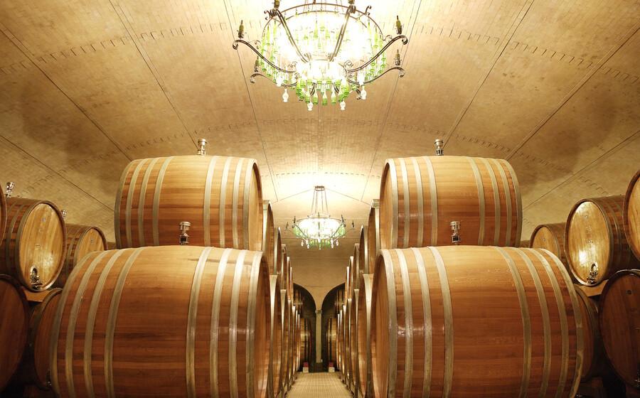Exquisite wine cellars