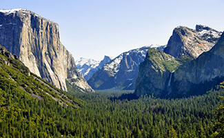 Walking in Yosemite National Park