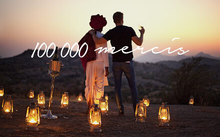 """Facebook: Sending out 100 000 """"thank you"""" from the Relais & Châteaux team!"""
